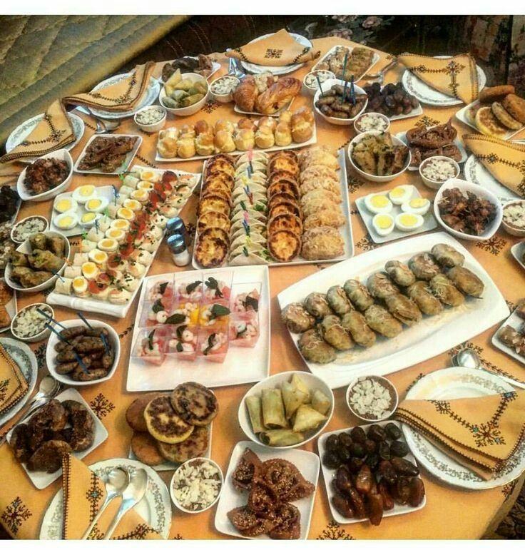 Table Marocaine Pour Ramadan Plat Marocian In 2019 Pinterest