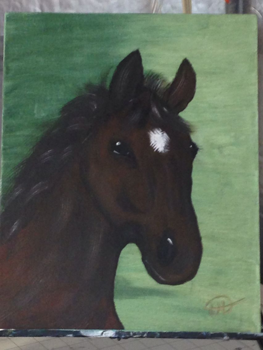 Fist horse painting   Horse painting, Horses, Animals