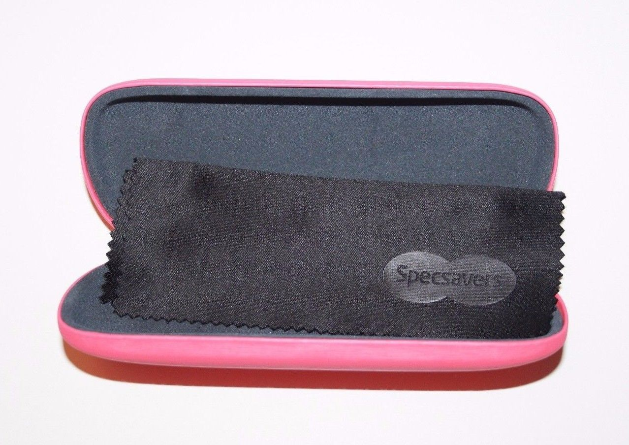 Specsavers Pink or Green Reading Glasses Hard Case with