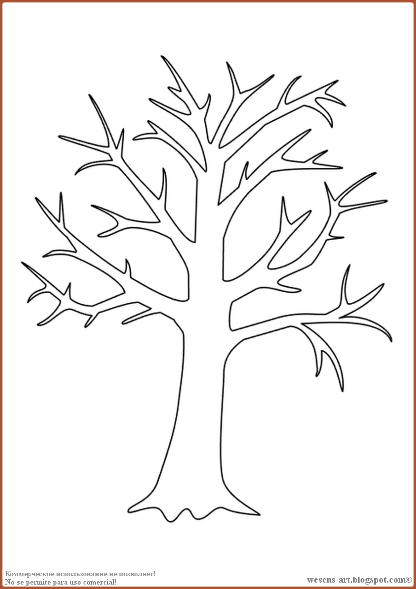 The Leaves On The Trees Change Their Color And Fall Down The Summer Ends An Change Color Ends Fall L In 2020 Tree Outline Family Tree Art Tree Coloring Page