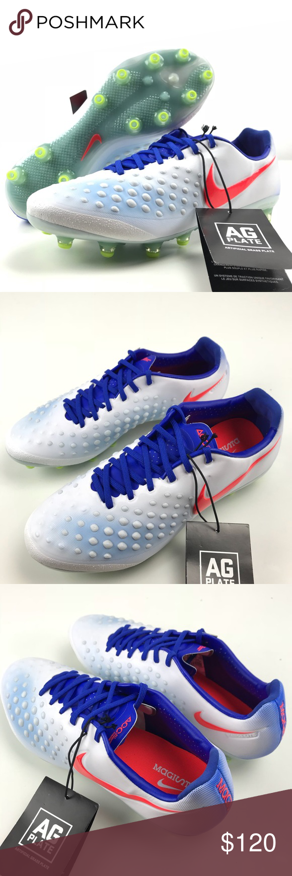 Nike Magista Opus II 2 AG Pro Soccer Cleats Nike Magista Opus II 2 AG  Women s 9 Soccer Cleats White Blue Crimson 844217 164 Brand new 031c725711b
