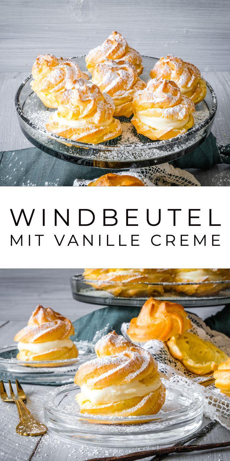 Windbeutel mit Vanille Creme