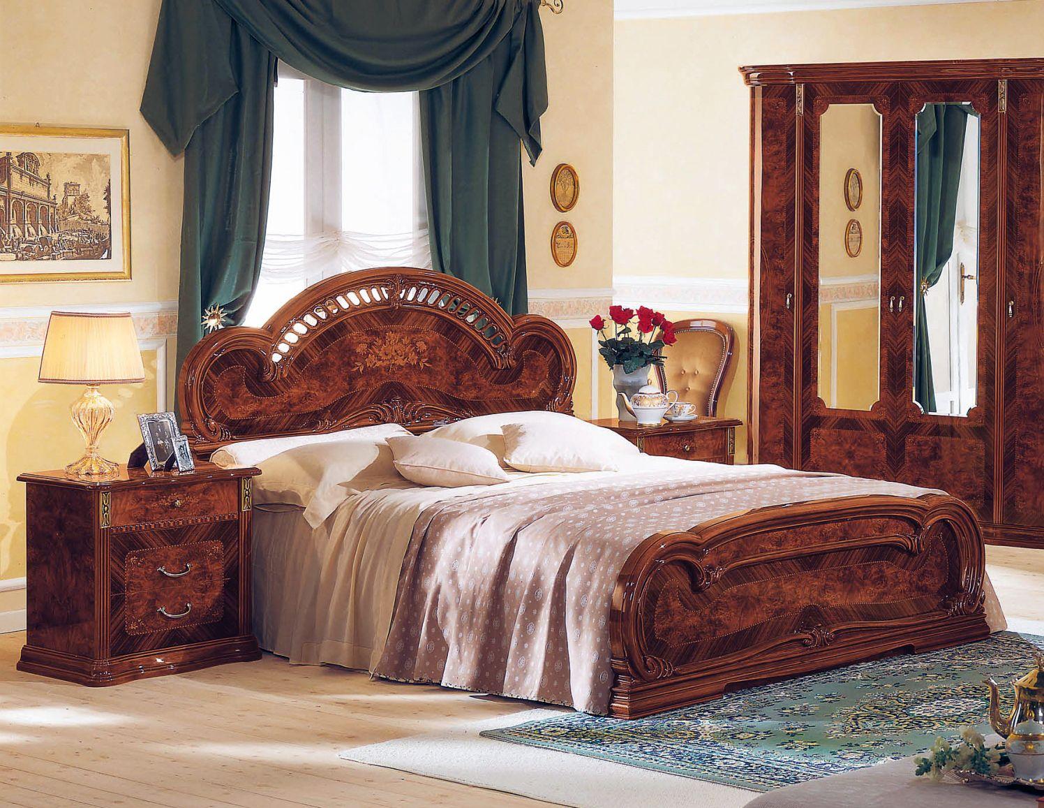 Milady Platform Bed in Walnut by ESF Italian bedroom