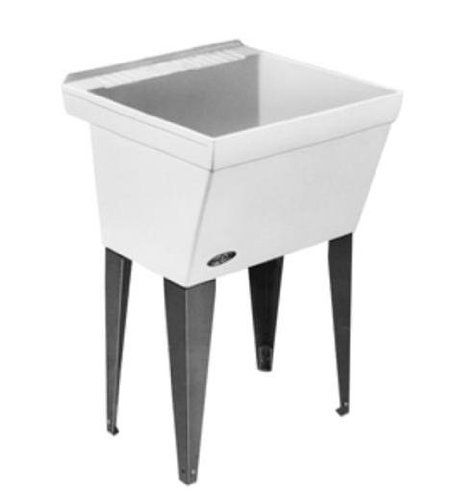 Mustee 17f Durastone Utility Floor Sink White Amazon Com