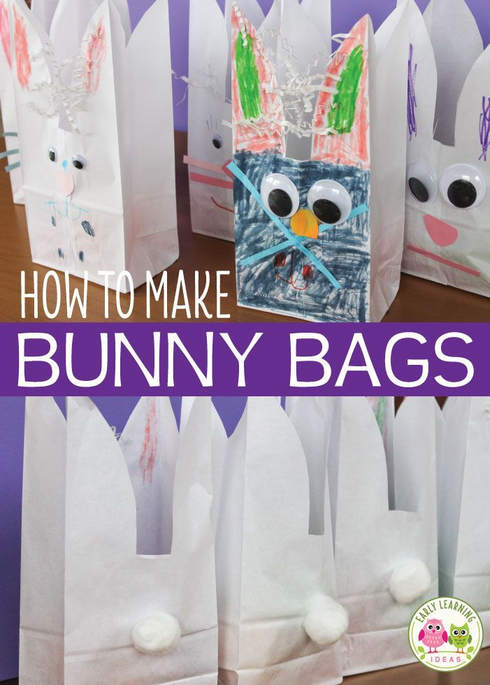 How to Make Bunny Bags: Easter Crafts for Preschoolers -   19 simple crafts kindergarten ideas