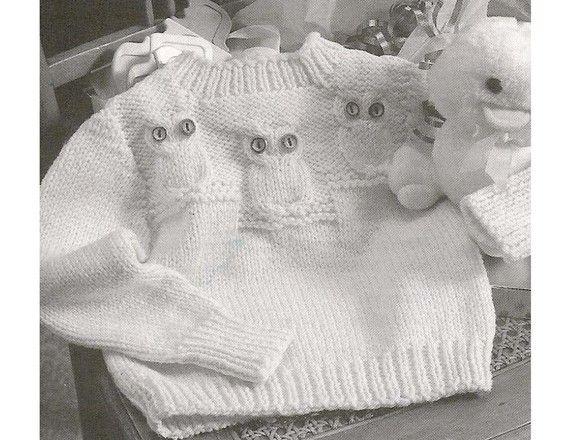 Kết quả hình ảnh cho Owl-Patterned Sweater knitting