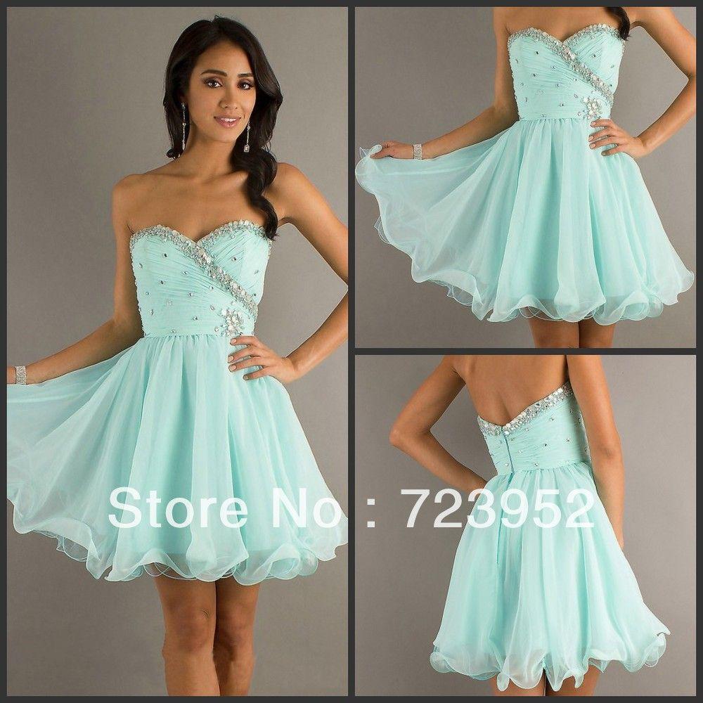 Light Blue Short Prom Dresses | ... Fashion Sweetheart Organza ...