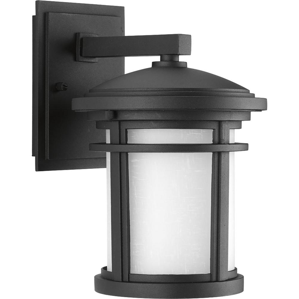 Progress Lighting Wish Collection 1 Light 10 4 In Outdoor Textured Black Led Wall Lantern Sconce P6087 3130k9di The Home Depot Led Outdoor Wall Lights Outdoor Wall Lighting Outdoor Wall Lantern