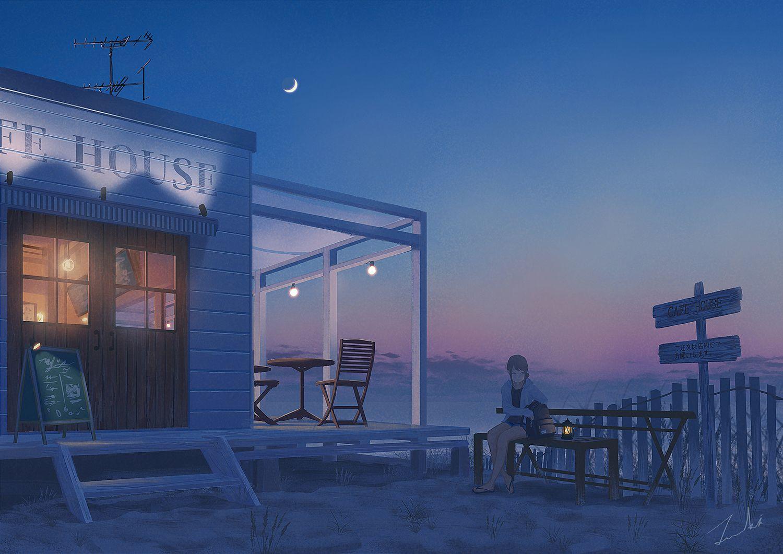 「2d」おしゃれまとめの人気アイデア|Pinterest|Mishie Chua【2020】 イラスト, 風景, 夕暮れ