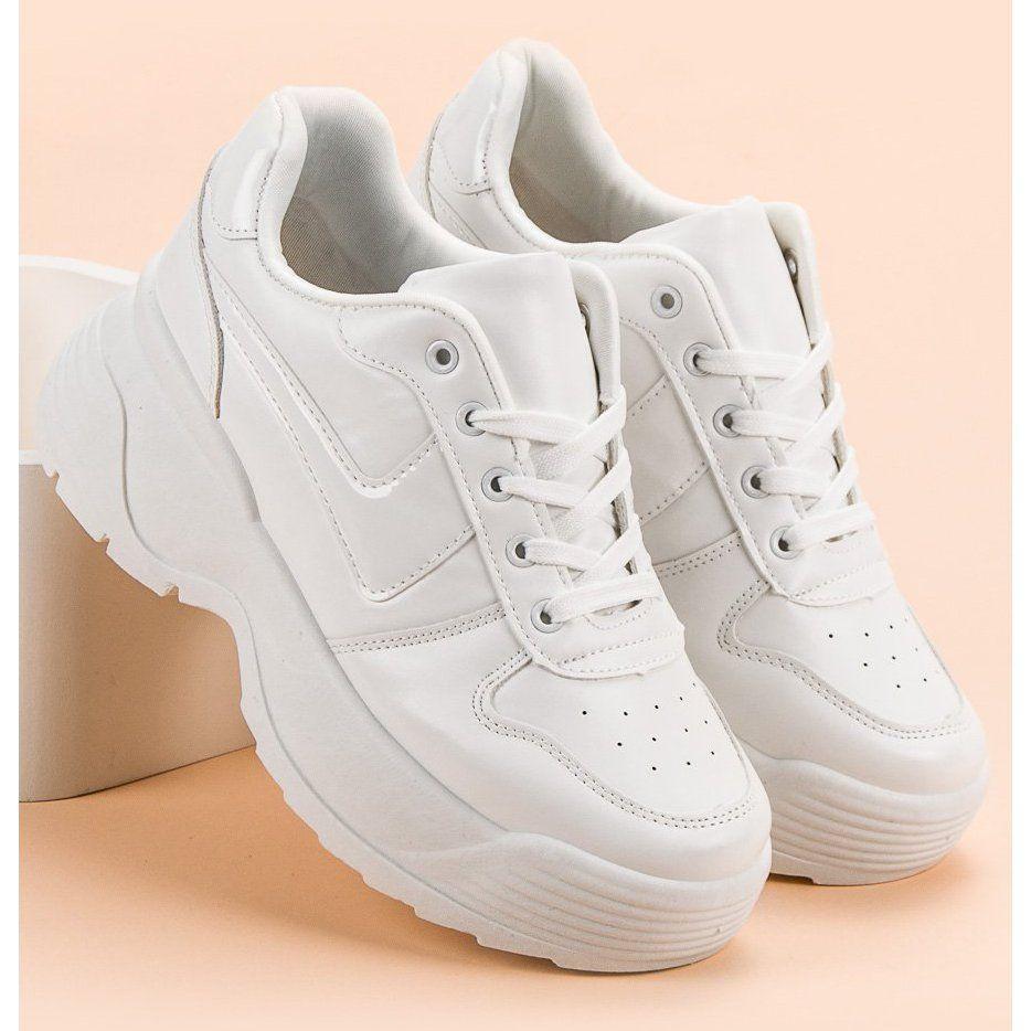 Kylie Sneakersy Na Platformie Biale Shoes Sneakers White Sneaker