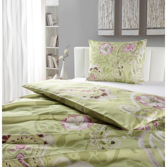 Bettwäsche mit tollen Ornamenten in Hellgrün - Farbe für Ihr