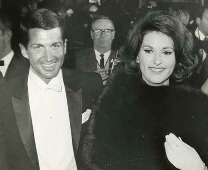Former boyfriend and girlfriend couple: George Hamilton and Lynda Bird Johnson