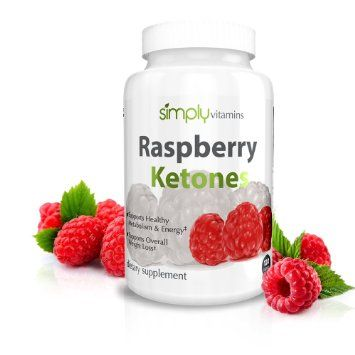 Simply Vitamins Raspberry Ketones 100mg 120 Capsules - 100% Pure Fat Burner. Lose Fat with Zero Side Effects. Supports Healthy Weight loss and Weight Management. All Natural Non-Stimulant Fat Burner Supplement for any Diet or Weight Loss Plan.