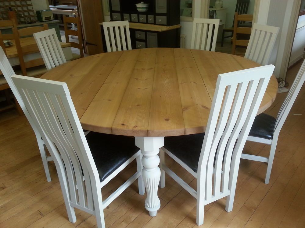 Artwork Of Perfect 8 Person Round Dining Table Wood Dining Room