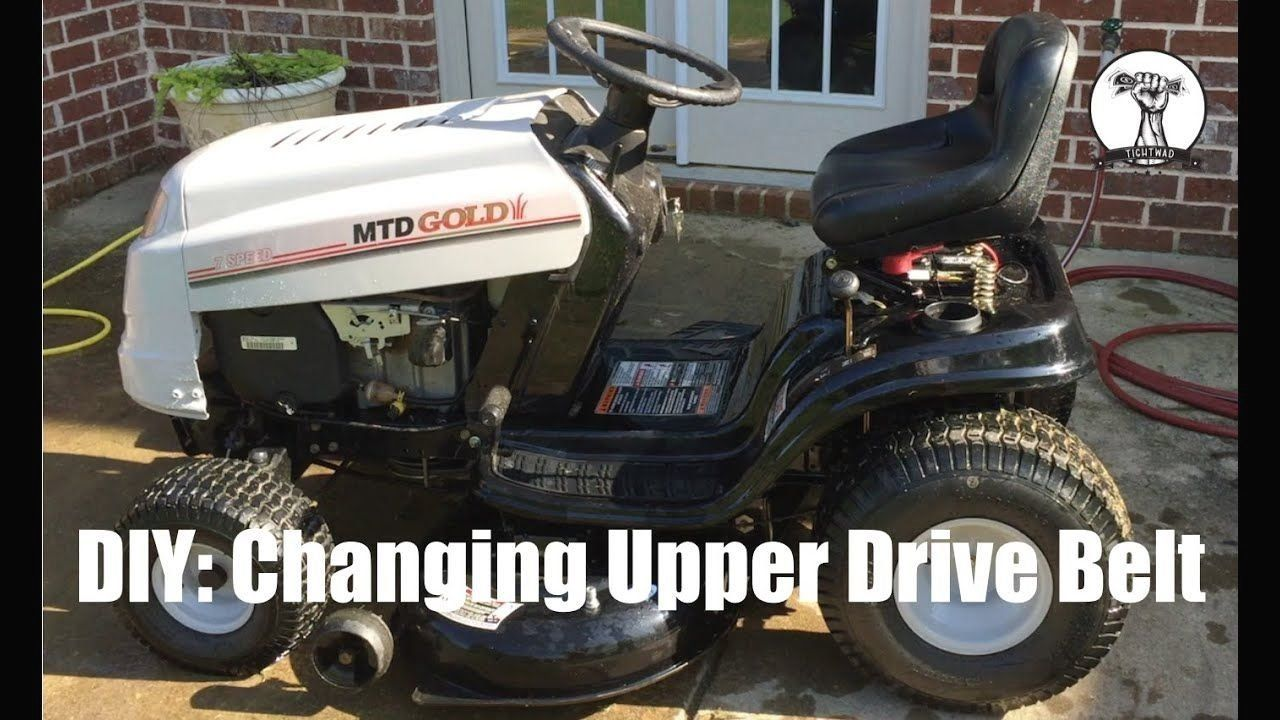 Diy How To Change The Upper Drive Belt On Mtd Gold Lawn Mower Bolens Or Yard Modern Design In 2020 Lawn Mower Yard Machine Mower