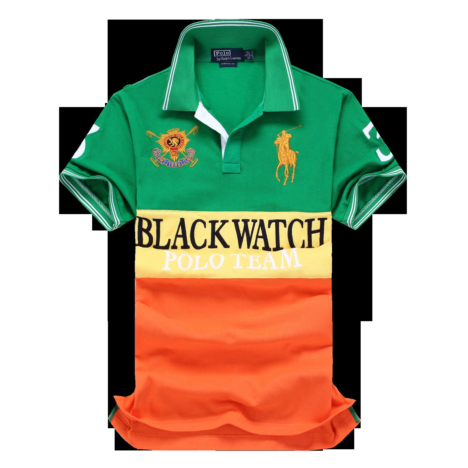 Ralph Lauren Man Custom Fit Black Watch Polo Shirt Team