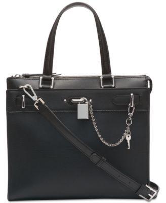 e237729a675f6 Calvin Klein Roxy Leather Tote - Tan Beige