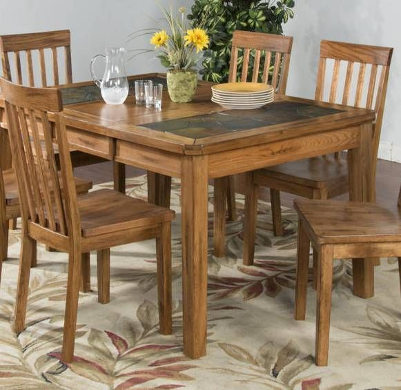 Sunny Designs Sedona Light Brown Rectangle Extension Table Oak