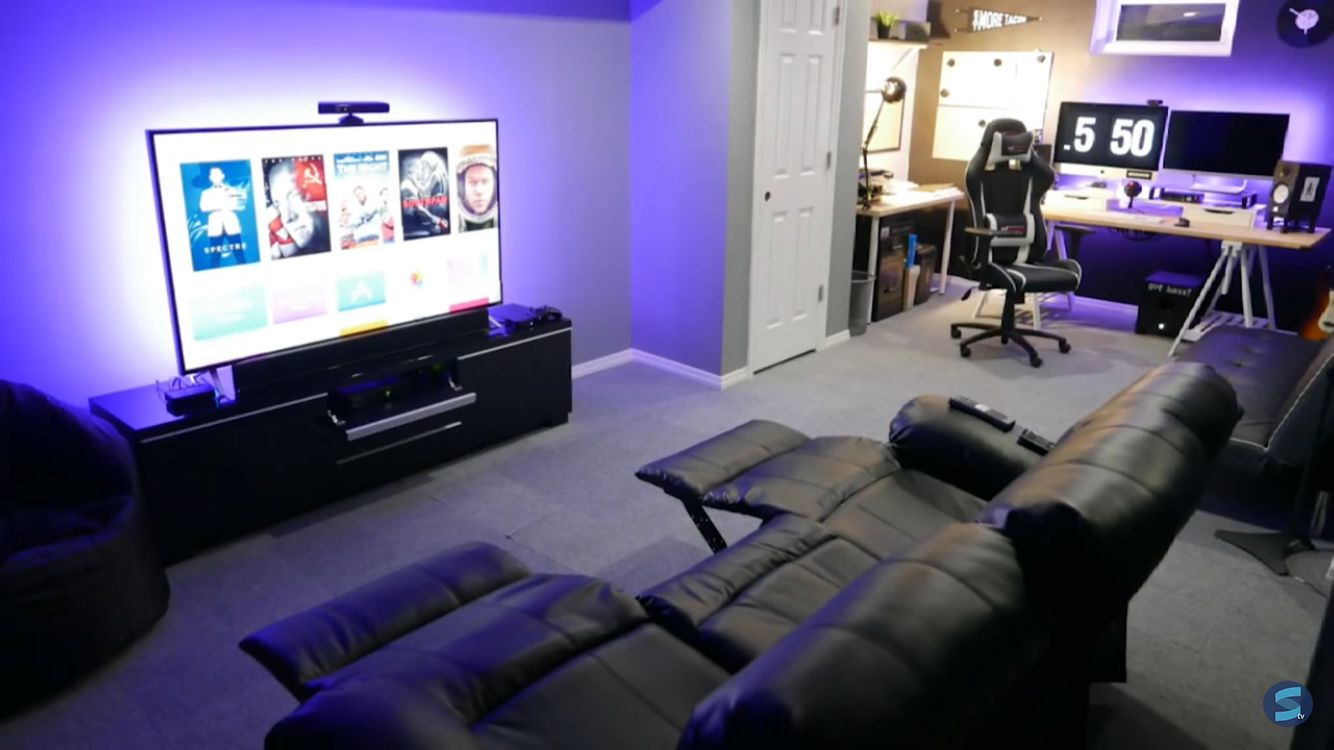 Entertainment Room Entertainment Room Game Room Design Gamer Room