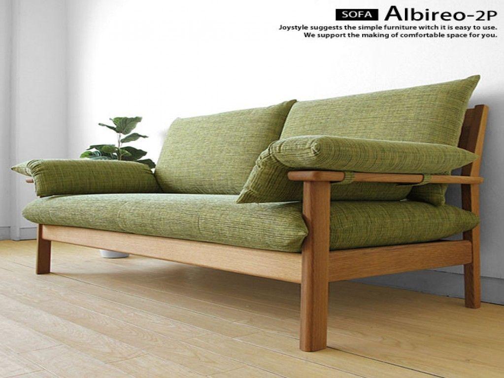 Wood Frame Sofa Lovely Joystyle Interior Rakuten Global Market Two