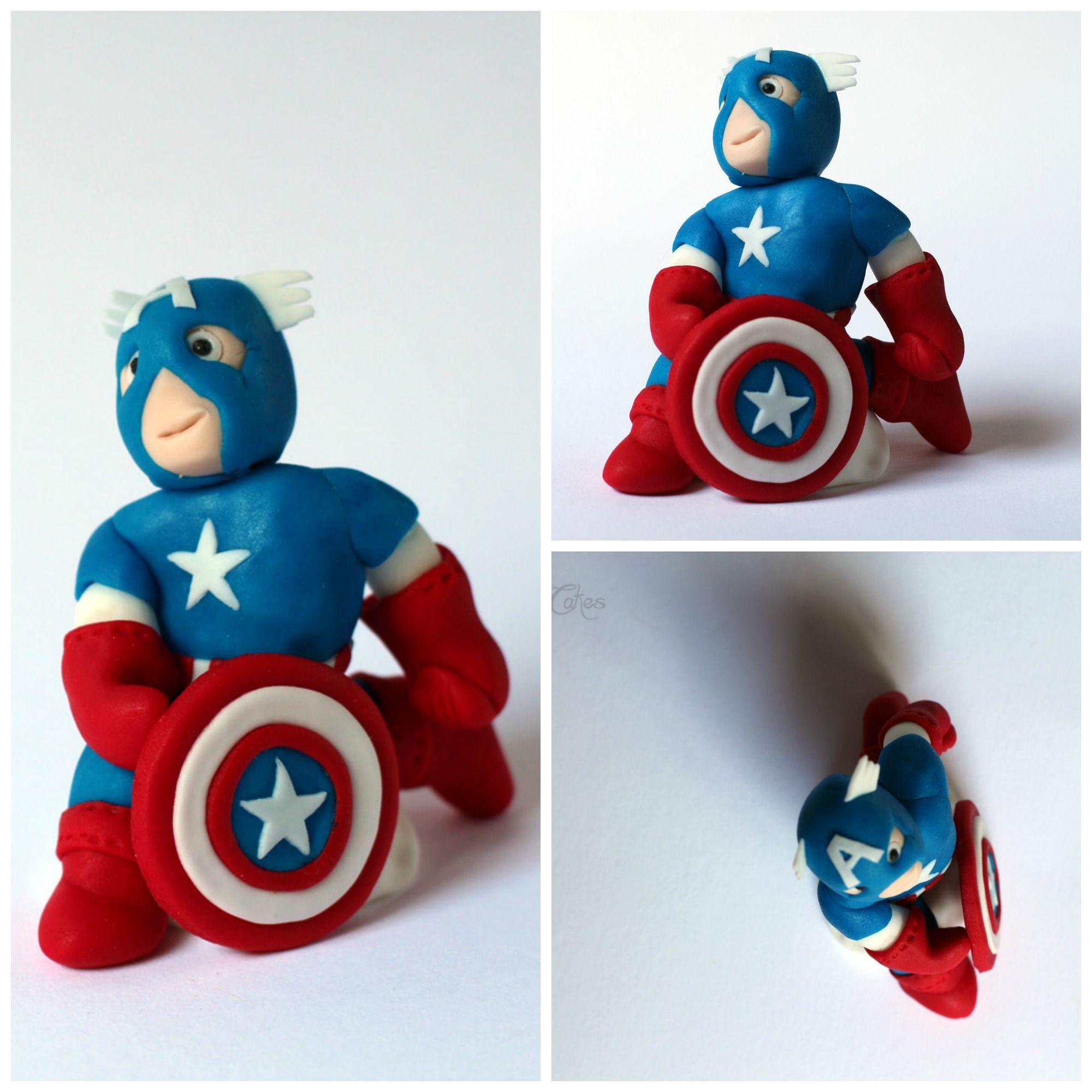 Captain America Cake Topper https://www.facebook.com ...
