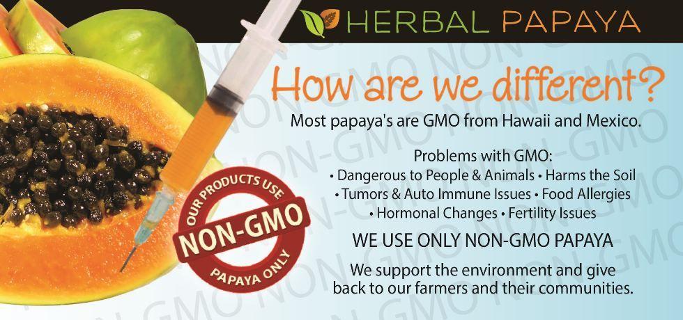 Organic and NonGMO Papaya Products Herbal Papaya