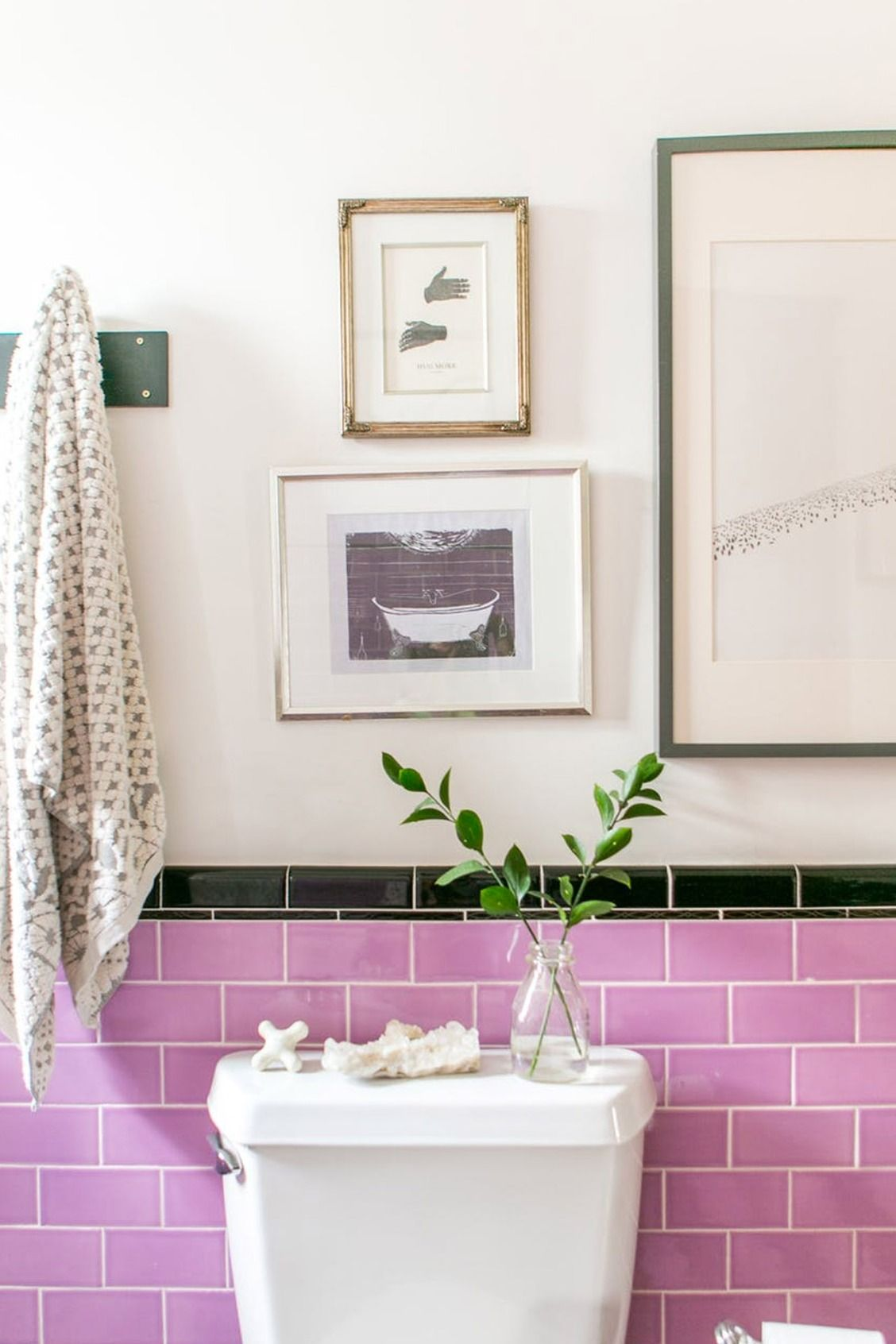 Love this pink tile! | To Build a Home | Pinterest | Bright pink ...