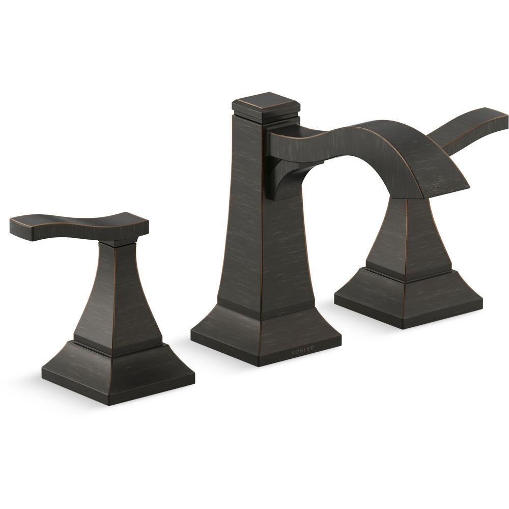 Kohler Truss 8 In Widespread 2 Handle Bathroom Faucet In Oil