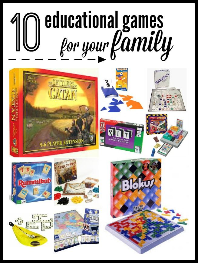 10 Educational Games For Family Game Night Family Fun Games