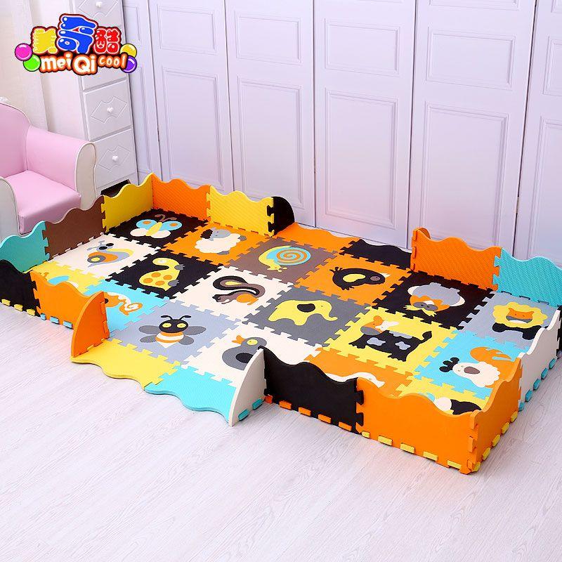 mei qi k hlen babyspielmatte eva schaum puzzlematten cartoon eva schaum pad verriegelung matten. Black Bedroom Furniture Sets. Home Design Ideas