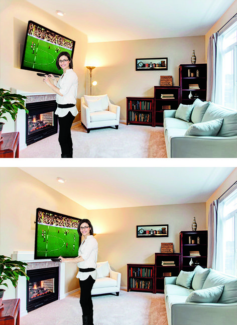 Watching Tv At The Wrong Height Causes Neck Strain And Tv Glare