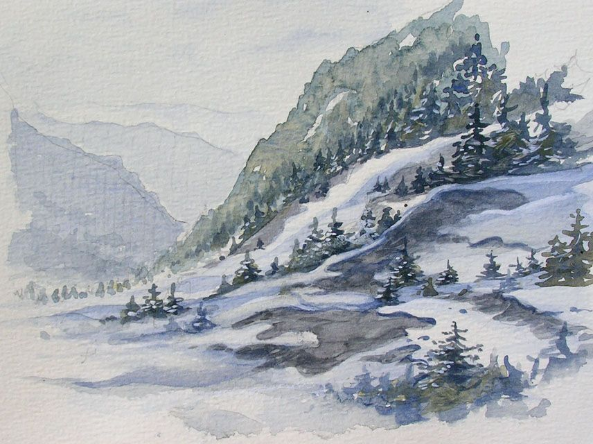 My Passion For Watercolor Savoyard Chalets Show Us Your