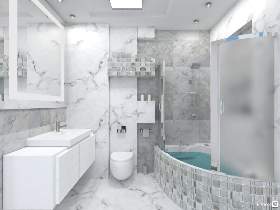 White Bathroom Interior Planner 5d