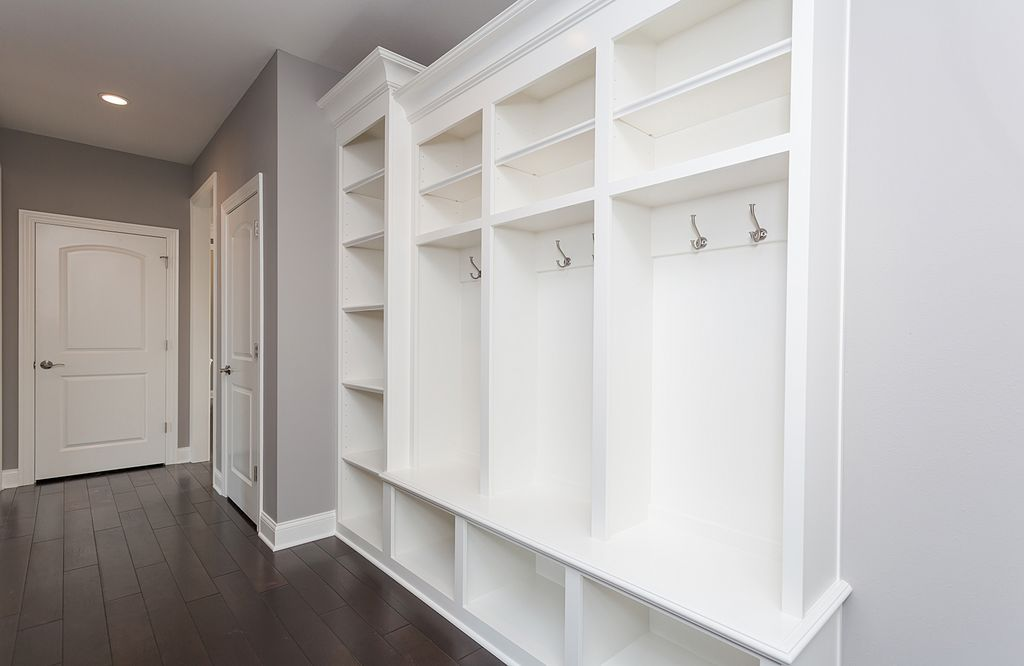 Traditional Mud Room With California Closets Custom Mudroom Hickory Forest Berrie Solid Hardwood 2 25 3 5