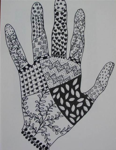 Zentangle Patterns For Beginners Bing Images Stuff Pintura