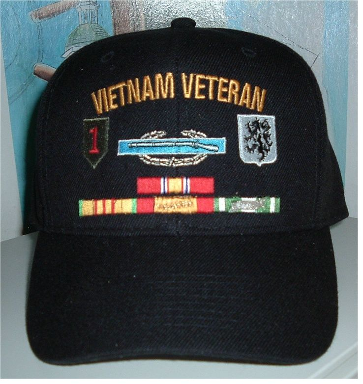 2b73aab6570 US ARMY VIETNAM VETERAN w  CIB   UNIT CRESTS along with RIBBONS on FRONT
