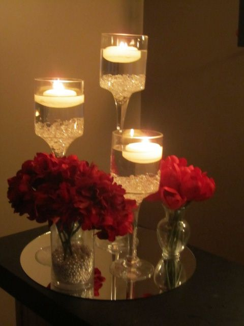 Long Stem Floating Candle Holders Long Stem Candleflower