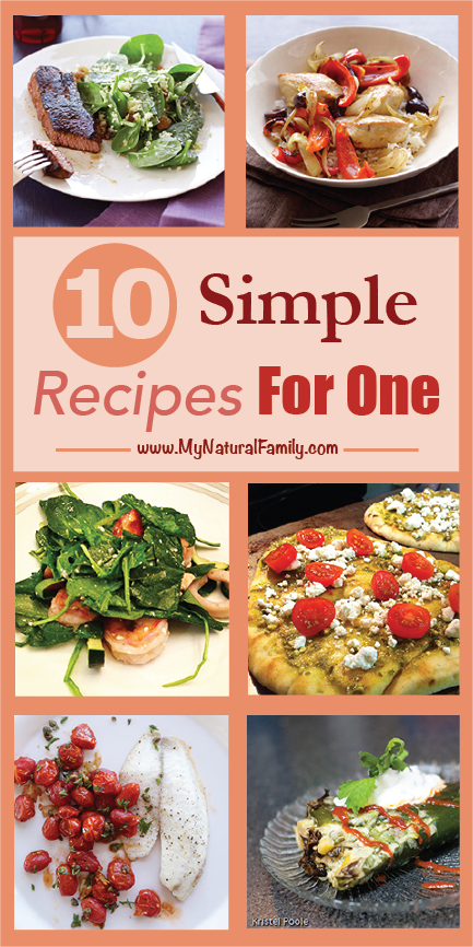 "9 Quick & Easy Single Dinner Recipes for One Person is part of One person meals - Do you have a ""Dinner Party of One!"" for dinner every night  My list of 9 quick & easy single dinner recipes for one person will help you tremendously"