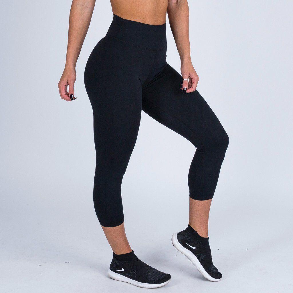 a28a0d06135e8 Muscle Nation 7/8 High Waist Scrunch Leggings - Black   Scrunch Bum ...