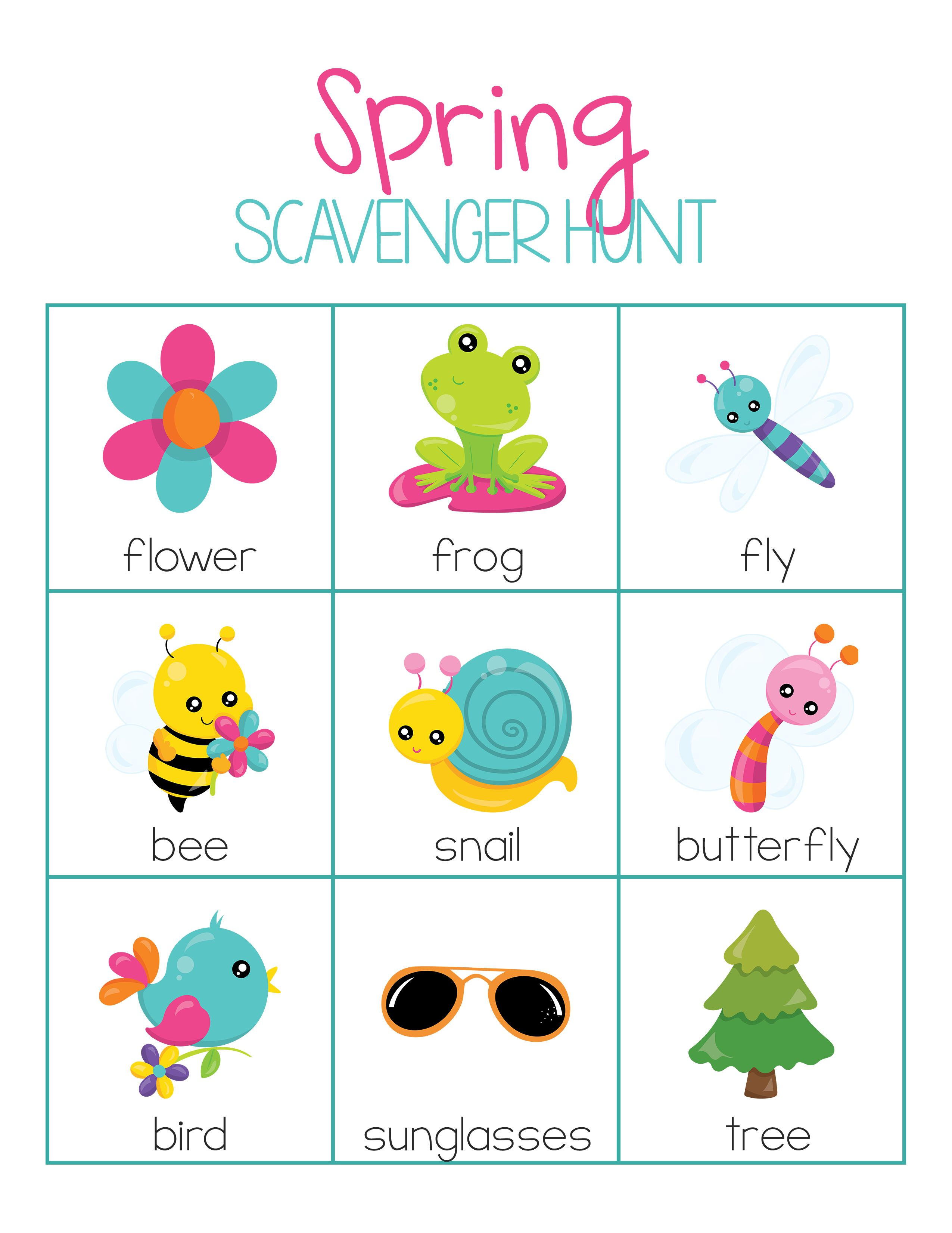 Free Spring Activities Pack For Preschool Or Kindergarten