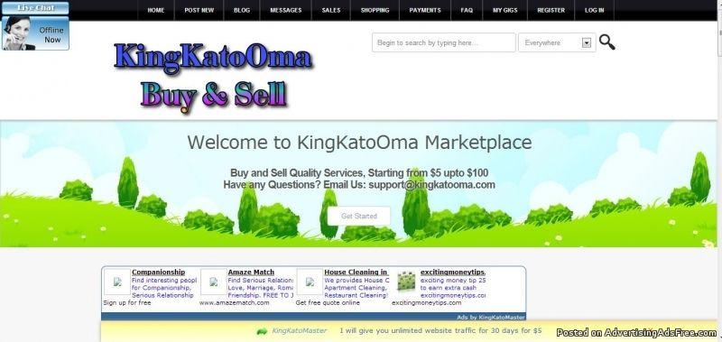kingkatooma com make money online free classified ad