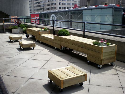 Shared Furniture For People, Plants And Bees | Diy patio ...