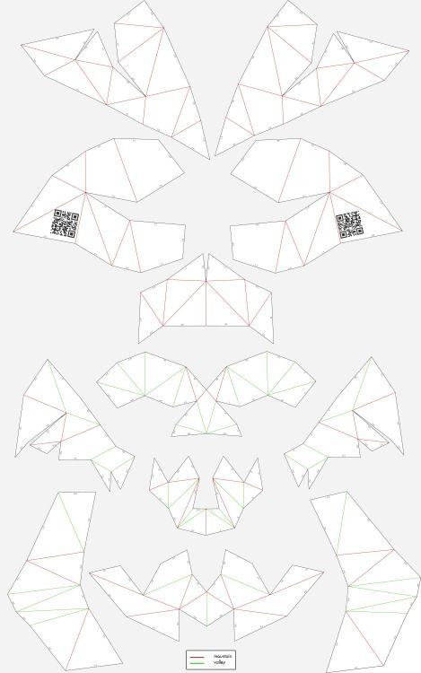 Unfold cardboard skull #skull #skullsforchange #folding