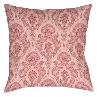 Thumbprintz Damask Pattern Printed Polyester Throw Pillow