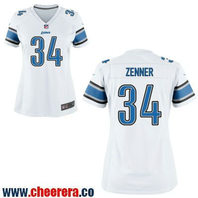 39015e353 Women s Detroit Lions  34 Zach Zenner White Road Stitched NFL Nike Game  Jersey