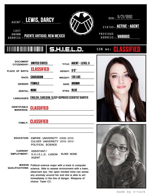 S.H.I.E.L.D. Profile: Clint Barton<< Her and I speak the same language: sarcasm