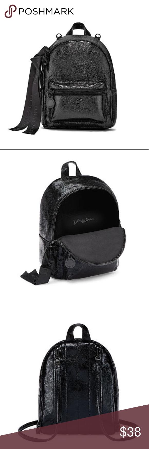 VS Metallic Crackle Mini City Backpack NWT City backpack