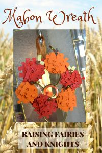 Mabon Wreath made with puzzle pieces