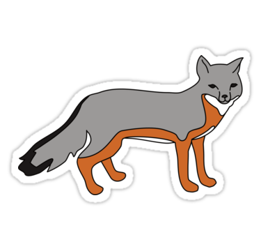 Gray fox stickers by 13sparrows redbubble maybe one day when you are