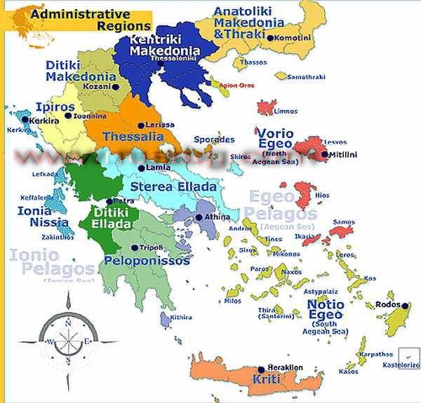 grcka mapa po regijama Grcka po regijama. (600×575) | Travel | Pinterest grcka mapa po regijama